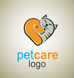 Pet care logo 6 vector