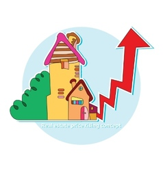 Real estate price rising concept vector