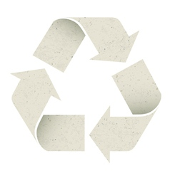 reuse symbol recycled paper texture vector image