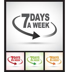 seven days set vector image