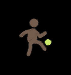 Soccer player in hatching style vector