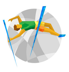 Track-and-field athletics - pole vault vector