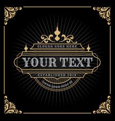 vintage luxury banner template design vector image vector image
