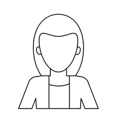 Woman business manager worker elegant thin line vector