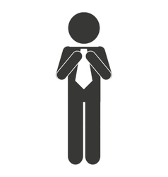 Business man male silhouette isolated icon vector
