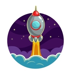 Rocket launch into the space vector