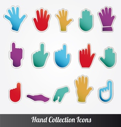 Human hand collection icon set vector