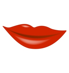Lips scarlet realistic with glitter vector