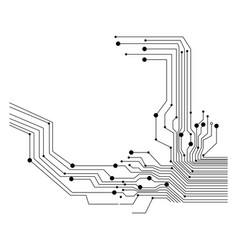 circuit board on white background vector image