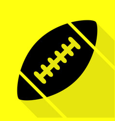 American simple football ball black icon with vector