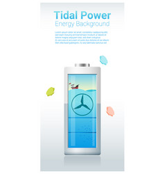 Green energy concept background with tidal energy vector