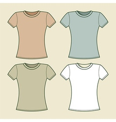 Women t-shirts template vector