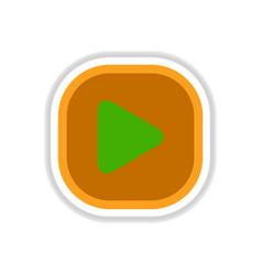 Color label design icon design button music play vector