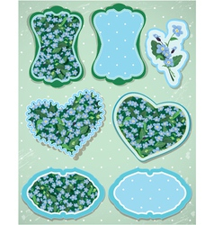Set of labels and cards with pattern of beautiful vector image