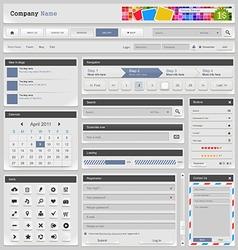 Web design silver part 3 vector image