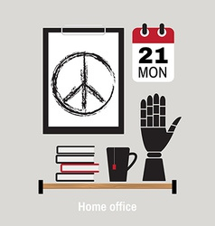 Modern home office workspace vector