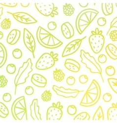 Doodle fruit background vector