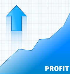 Profit arrow vector