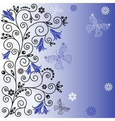 floral curl background vector image