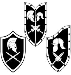 Shield Gladiator vector image