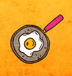 Cooked eggs cartoon vector