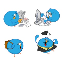 Blue bird students vector