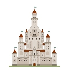 Medieval fairytale castle or palace vector