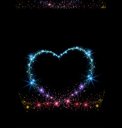Colorful sparkling heart vector