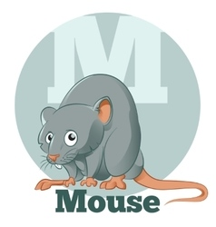 Abc cartoon mouse vector
