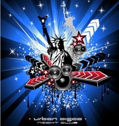 American discotheque vector image