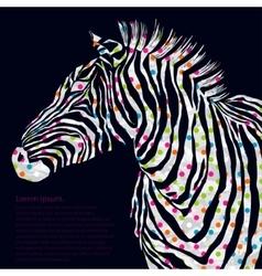 Animal watercolor silhouette zebra vector
