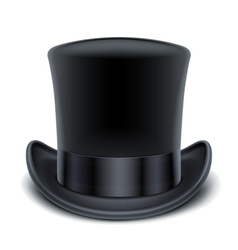 black top hat vector image vector image