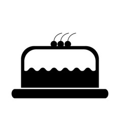 cake delicious berry bakery pastry tasty delicious vector image vector image