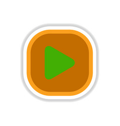 Color label design icon design button music play vector
