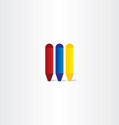crayons icon design element vector image