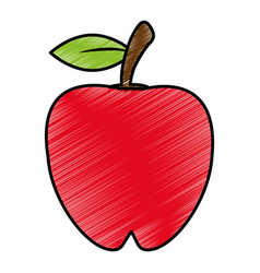 Drawing apple food nutrition vector