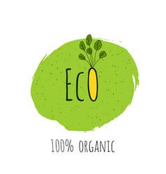 eco fresh vegan bio organic green design vector image vector image