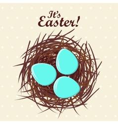 Eggs in nest vector