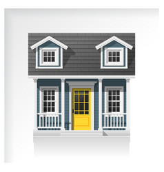elements of architecture with a small house icon vector image vector image