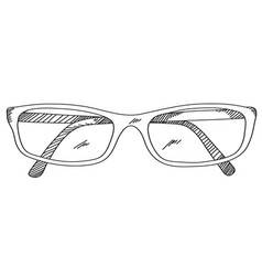 Eye glasses hand drawing vector