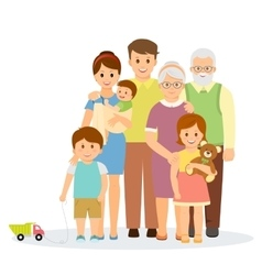 Family portrait in flat style vector