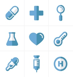 Flat icon Medical Icons Set Design vector image vector image