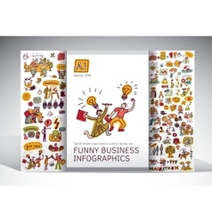 Funny business creative info grafics big icons set vector