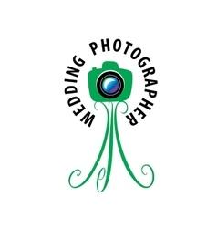 logo wedding photographer vector image