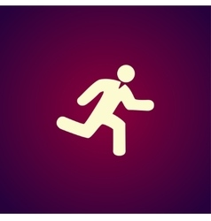 man running icon vector image vector image