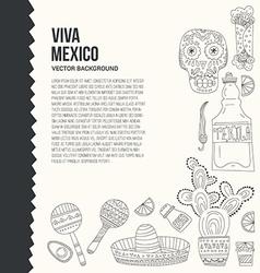 Mexico card template vector