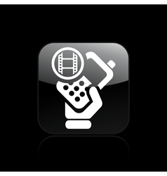phone video icon vector image vector image