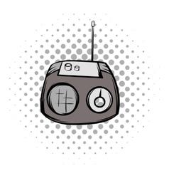 Retro radio comics symbol vector