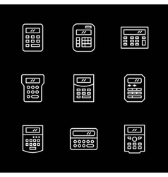 Set line icons of calculator vector image vector image