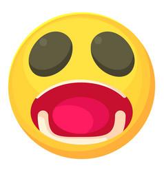 Surprised smiley icon cartoon style vector